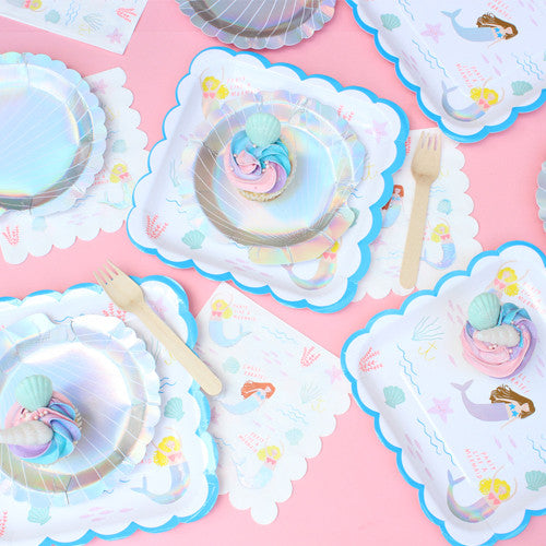 Mermaid Party Plates · \u2013 Via Blossom