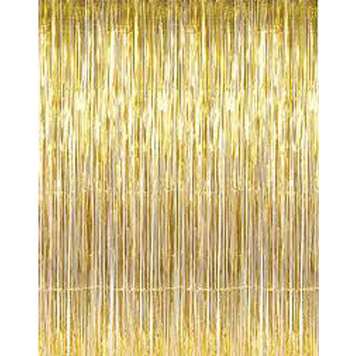 Gold Metallic Fringe Curtain