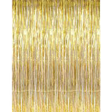 Gold Fringe Curtain - Gold Metallic Fringe Curtain