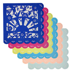 Mexican Napkins in assorted colors navy, yellow, pink, light blue, teal and peach