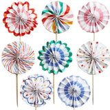 Mini Pinwheel Toppers - Mini Pinwheel cupcake Toppers
