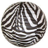 "Paper Lantern - Zebra - 16"" - Zebra Paper Lantern animal print party"