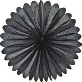 Paper Daisy  Fans (19 inches) - Black