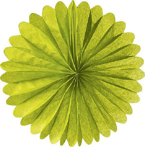 Paper Daisy Fans Tissue Fans Green Halloween Party - Wicked Cute Christmas Party Halloween Party Essentials