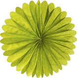 Paper Daisy  Fans (19 inches) - Green