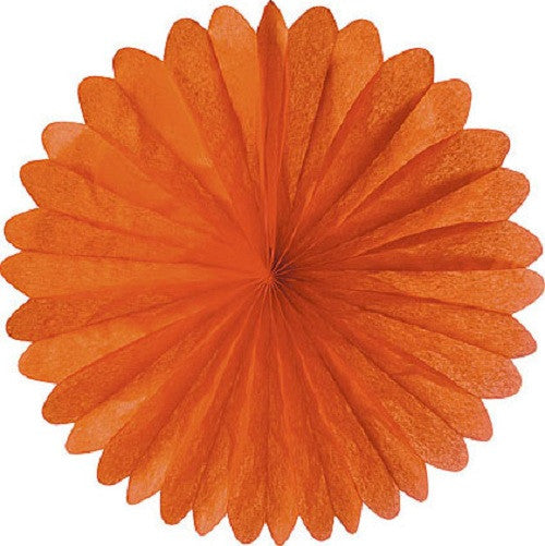 Paper Daisy Fans Tissue Fans Orange Halloween Party - Wicked Cute Halloween Party Essentials