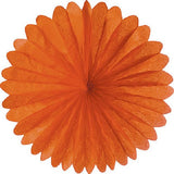 Paper Daisy  Fans (19 inches) - Orange