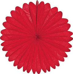 Paper Daisy Fans Tissue Fans Red 4th of July Party Christmas Party
