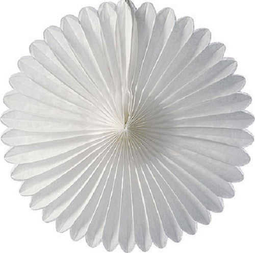 Paper Daisy Fans Tissue Fans White 4th of July Party Christmas Party