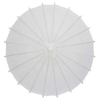 White 28 inches paper parasols and bamboo frame