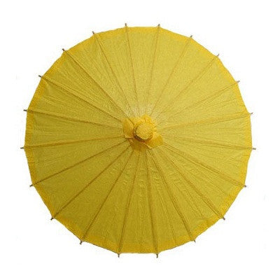 Yellow 20 inches paper parasols and bamboo frame
