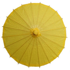 Yellow 28 inches paper parasols and bamboo frame