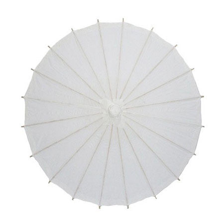white 20 inches paper parasols and bamboo frame