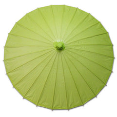 Green 28 inches paper parasols and bamboo frame