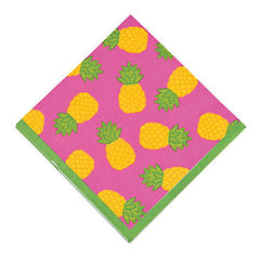 Pineapple Party napkins are perfect for a tropical birthday party.