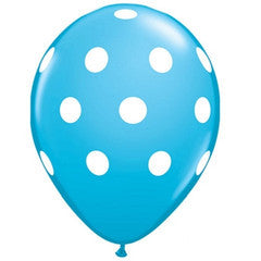 Polka Dot Balloons Blue Carnival Party