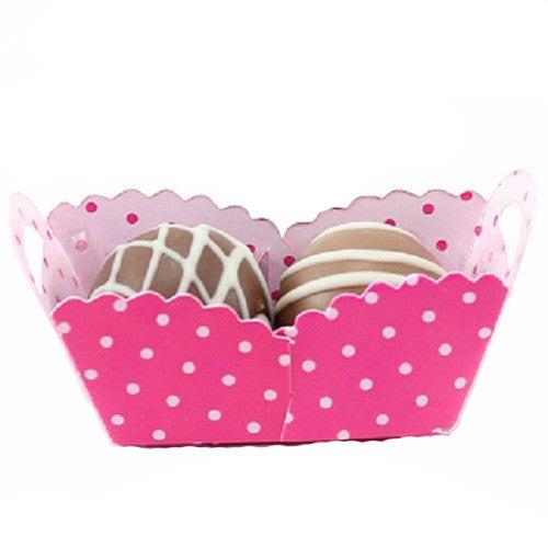 Petite Baskets - Polka Dot Pink - Large