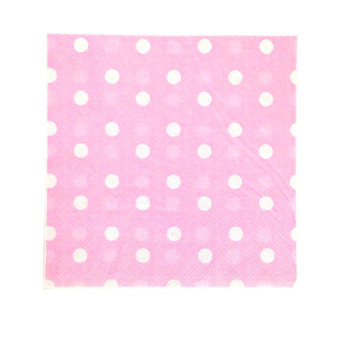 Pink Polka dot party napkins Plates, Cups & Napkins Baby Pink Baby Shower Girl Baby Shower - Girl