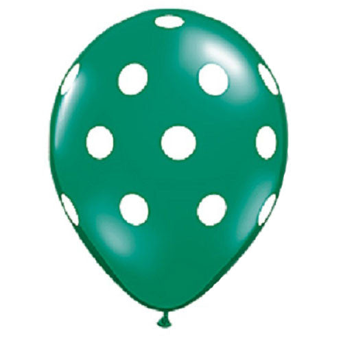 Polka Dot Balloons Green Christmas Party