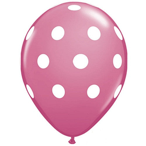 Polka Dot Balloons Pink Ice Cream Party Flamingo Party Rock'n'Roll Party - Girl Carousel Party Easter Party