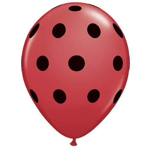 Polka Dot Balloons red and black Ladybug Party