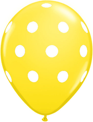 Polka Dot Balloons Yellow Ice Cream Party Firefighter Party Carnival Party Bumble Bee Party