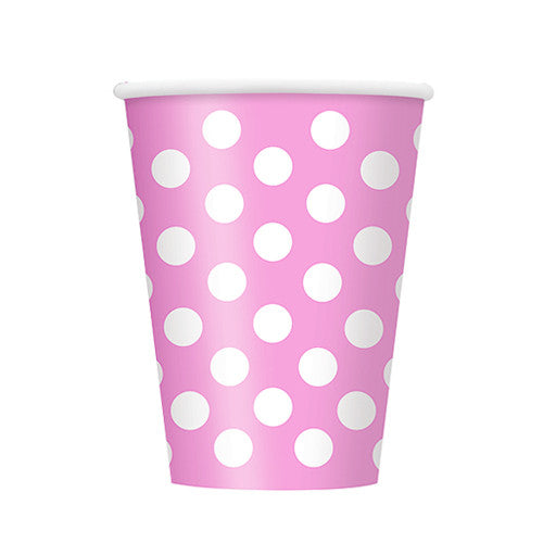 Pink Polka dot party cups Plates, Cups & Napkins Baby Pink  Baby Shower Girl Baby Shower - Girl