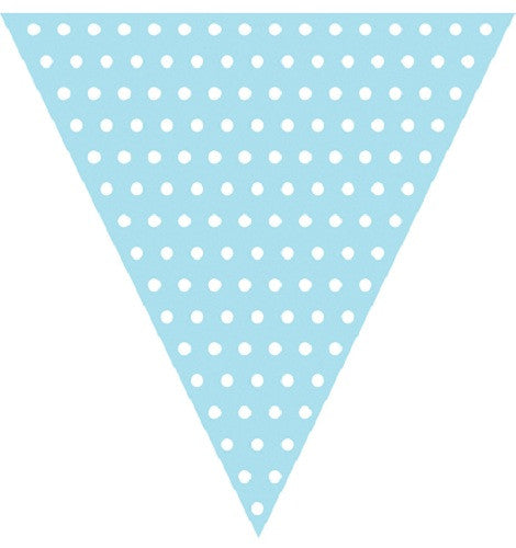 Baby Blue Polka dot flag banner