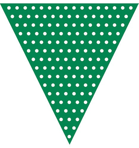 Green Polka dot flag banner
