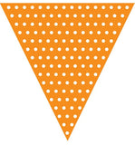 Flag Banner - Orange - Orange Polka dot flag banner
