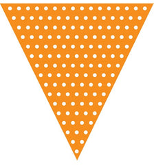 Orange Polka dot flag banner