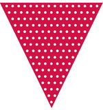 Flag Banner - Red - Red Polka dot flag banner