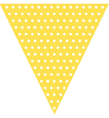 Yellow Polka dot flag banner