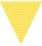 Flag Banner - Yellow - Yellow Polka dot flag banner
