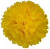Flower Pom Pom - 16 Inches (Set of 2) - Yellow