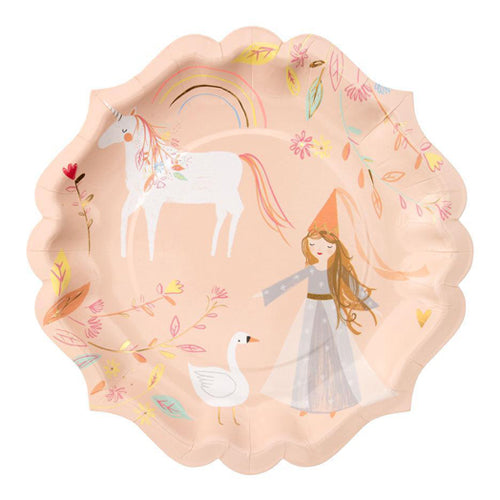 PRINCESS & UNICORN PLATES - LARGE