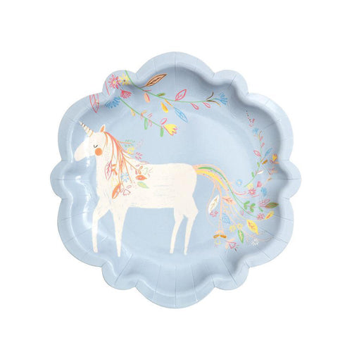 PRINCESS & UNICORN PLATES - SMALL