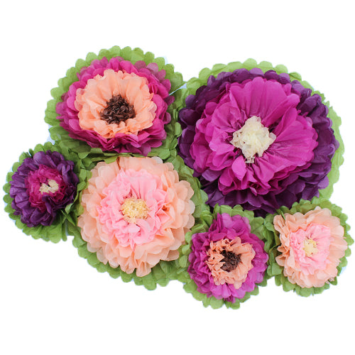 ENCHANTED TISSUE PAPER FLOWER SET (6 PER PACK)