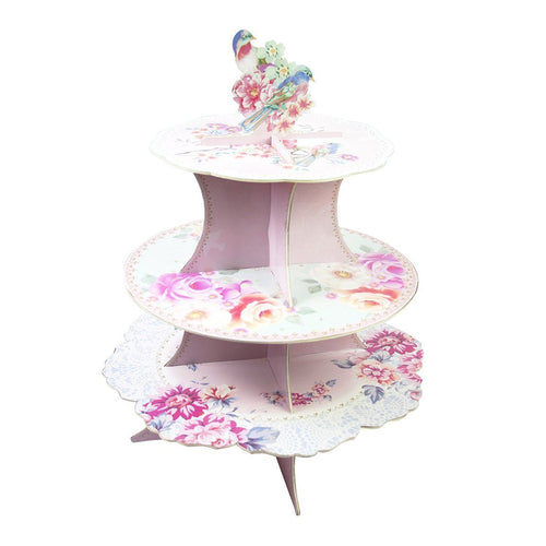 Tea Party Romantic Cupcake Stand