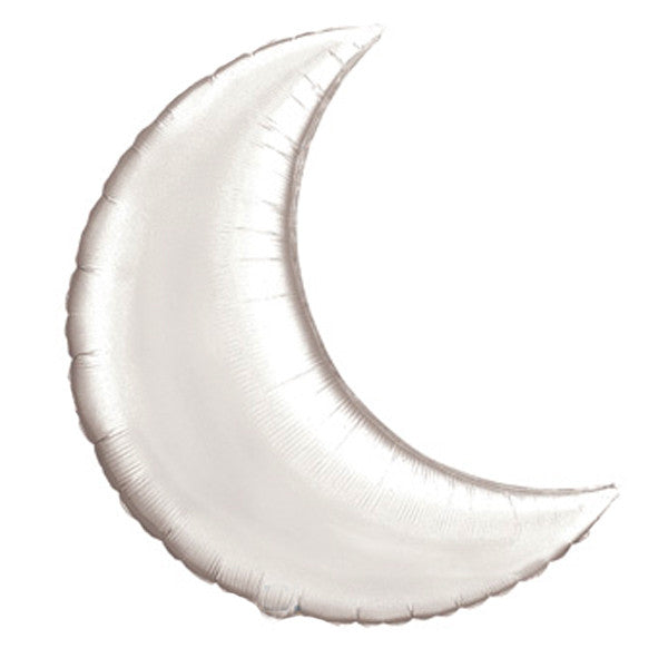 Giant Crescent Moon Balloon 26 inches Foil Balloons Silver Halloween Party Essentials Nutcracker Party unicorn Party Princess Party Baby Shower Girl Baby Shower