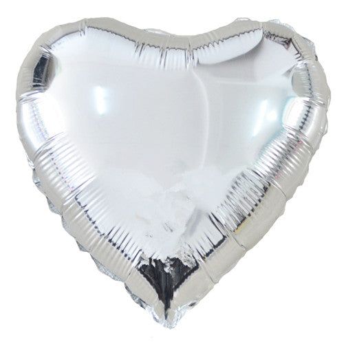 Heart Foil Balloons Silver Be my Valentine Party Silver Baby Shower Girl
