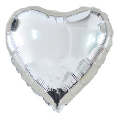 Heart Foil Balloons Silver Be my Valentine Party Silver