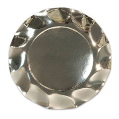 Silver scalloped metallic plates Plates, Cups & Napkins Silver Christmas Party Shabby Chic Party Thanksgiving