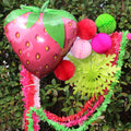 Giant strawberry foil balloon