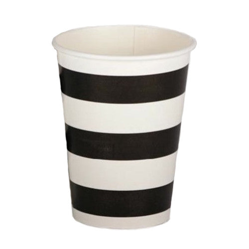 Black party Striped Cups Plates, Cups & Napkins Black Firefighter Party Pirate Party Rock'n'Roll Party - Girl Rock'n'Roll Party Flamingo Party Halloween Party Essentials