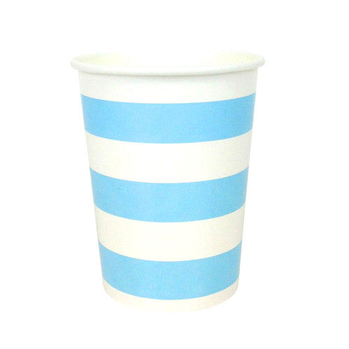 Blue party Striped Cups Plates, Cups & Napkins Blue Ice Cream Party Carnival Party Baby Shower Boy Baby Shower - Boy Rock'n'Roll Party - Girl