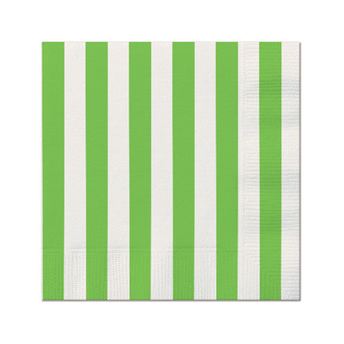 Green party Striped Napkins Plates, Cups & Napkins Green Halloween Party - Wicked Cute
