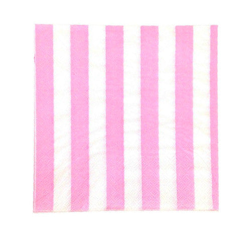 Pink party Striped Napkins Plates, Cups & Napkins Baby Pink Ice Cream Party Fairy Party Owl Party Carousel Party Flamingo Party Rock'n'Roll Party - Girl Tutti Frutti Birthday Party