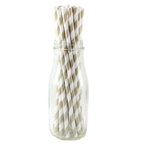 Paper Straws Gold White Bridal Party Bridal Showers Tea Party Princess Party