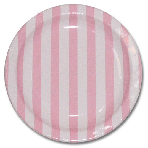 Pink party Striped Plates Plates, Cups & Napkins Baby Pink Fairy Party Baby Shower Girl Baby Shower - Girl Owl Party Carousel Party Rock'n'Roll Party - Girl